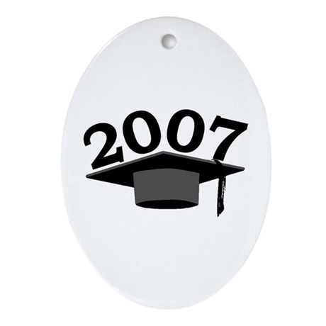 Graduation 2007 Oval Ornament