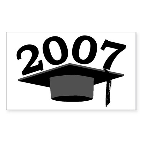 Graduation 2007 Rectangle Sticker