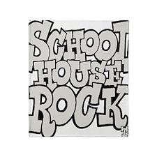 3-schoolhouserock_gray Throw Blanket
