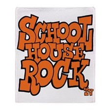 3-schoolhouserock_orange Throw Blanket