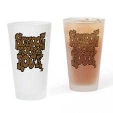 3-schoolhouserock_brown_dark Drinking Glass