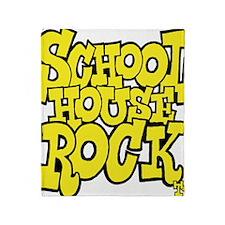 3-schoolhouserock_yellow Throw Blanket