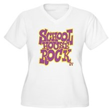 2-schoolhouserock Women's Plus Size V-Neck T-Shirt