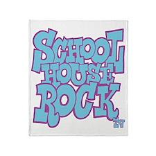 2-schoolhouserock_blue_REVERSE Throw Blanket