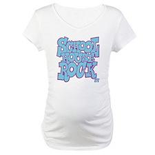 2-schoolhouserock_blue_REVERSE Maternity T-Shirt