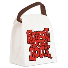 3-schoolhouserock_red Canvas Lunch Bag