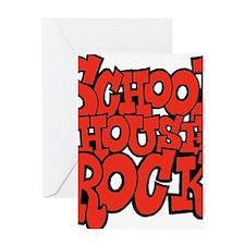 3-schoolhouserock_red Greeting Card