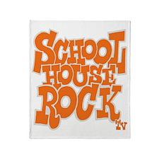 2-schoolhouserock_orange_REVERSE Throw Blanket