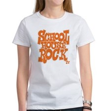 2-schoolhouserock_orange_REVERSE Tee