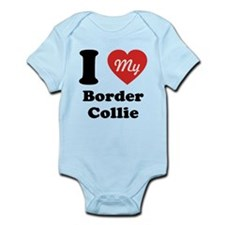 I Heart My Border Collie Infant Bodysuit