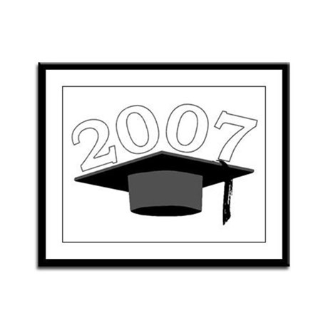Class of 2007 Framed Panel Print