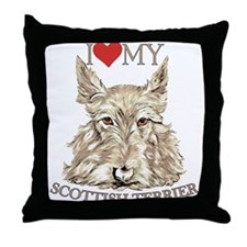 Wheaten Scottish Terrier Love My Throw Pillow