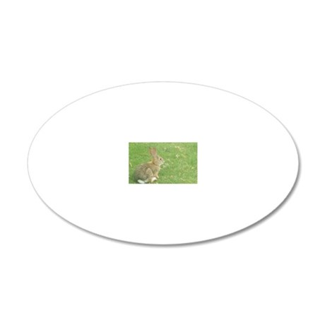 Bunny 20x12 Oval Wall Decal