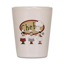 Three Chefs Shot Glass