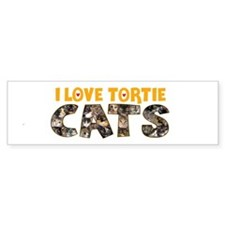 I Love Tortie Cats Bumper Sticker