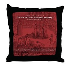 Mousepad_Martyrdom_Askew Throw Pillow