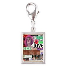 choice5x8journalwriting Silver Portrait Charm