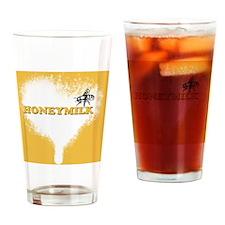 honeymilk button Drinking Glass