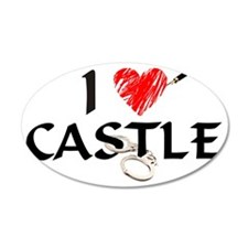 castle1lt 35x21 Oval Wall Decal