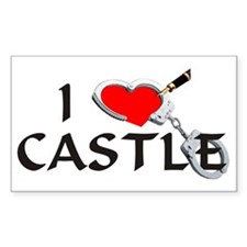 castle2lt Sticker (Rectangle)