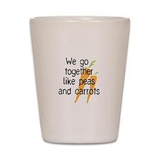 like peas and carrots_carrots Shot Glass