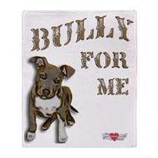 Bully for Me, Pitbull Puppy Porsche Throw Blanket