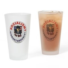 3-The Mob- Socialism- Forgetaboudit Drinking Glass