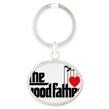 GoodFather_dads_lites_complete Oval Keychain