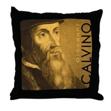 Bag_Head_Calvino Throw Pillow