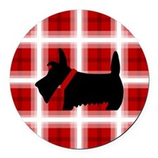 Scottie Red White copy Round Car Magnet