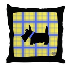 Scottie Blue Yellow Throw Pillow