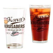 2-7x7 kara logo 2 Drinking Glass