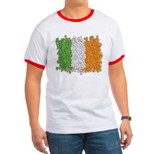 Shamrocks Irish Flag T