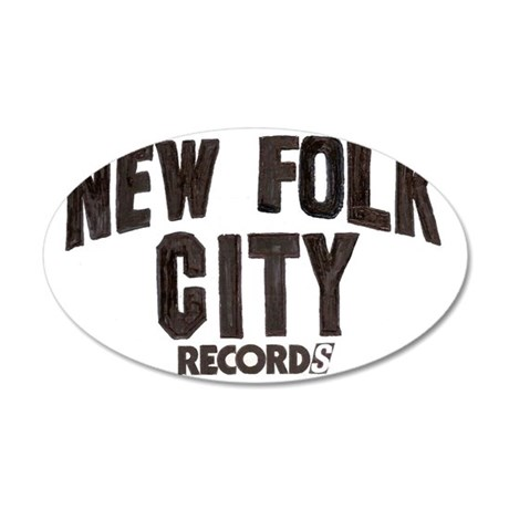 2-newfolkcity3 35x21 Oval Wall Decal