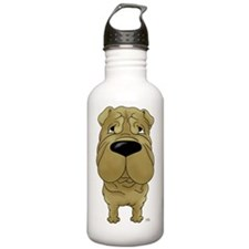 SharpeiShirtFront Water Bottle
