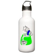 Golfer Cat in Color Water Bottle