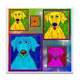 Golden Retriever Art Tile Coaster
