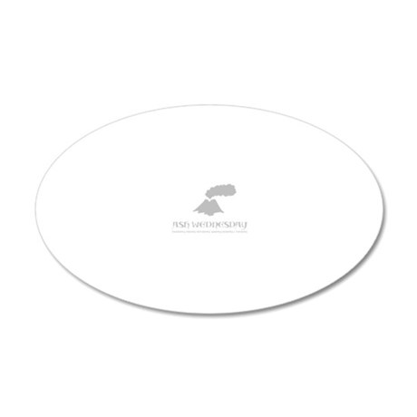 ash_gray 20x12 Oval Wall Decal