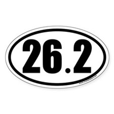 26.2 Oval Car Sticker for Marathon Enthusiasts