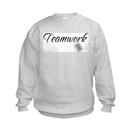 Teamwork Tag -- Priceless Kids Sweatshirt