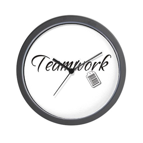 Teamwork Tag -- Priceless Wall Clock