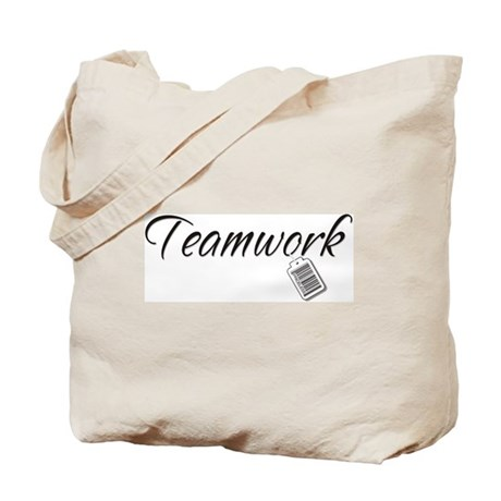 Teamwork Tag -- Priceless Tote Bag
