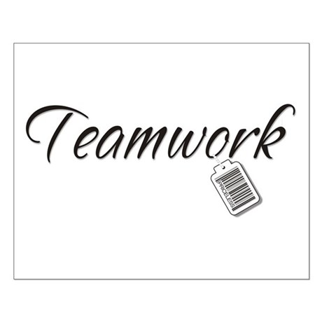 Teamwork Tag -- Priceless Small Poster