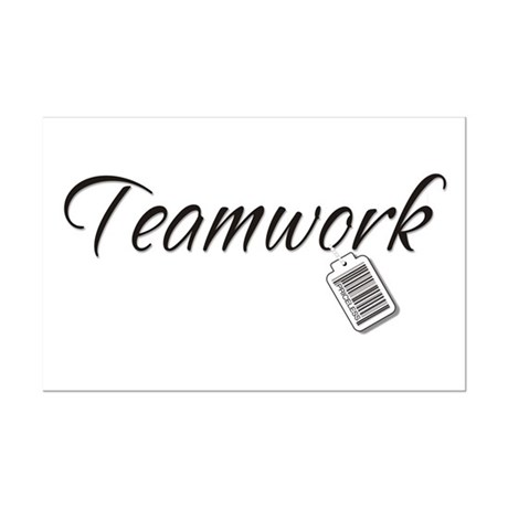 Teamwork Tag -- Priceless Mini Poster Print