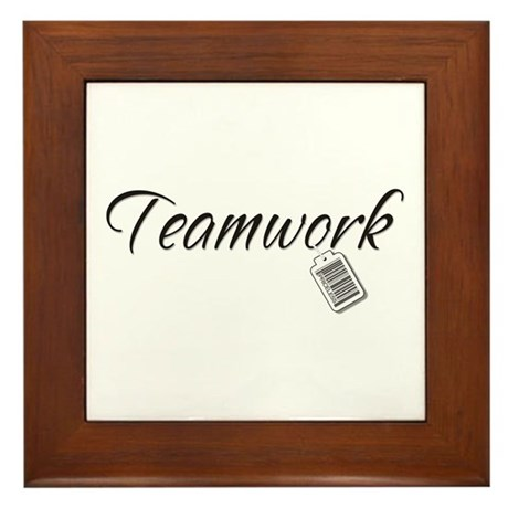 Teamwork Tag -- Priceless Framed Tile
