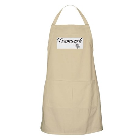 Teamwork Tag -- Priceless BBQ Apron