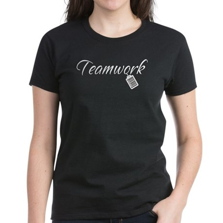 Teamwork Tag -- Priceless Women's Dark T-Shirt