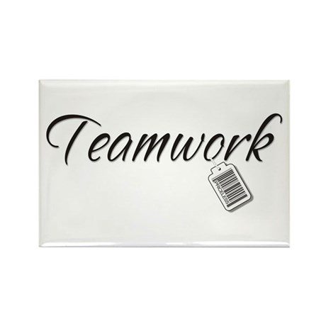 Teamwork Tag -- Priceless Rectangle Magnet