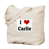 I Love Carlie Tote Bag