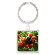 Berries Square Keychain
